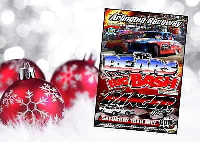 The Bears Big Bash 2016 DVD Ideal gift for Banger Racing fans. Signed copies