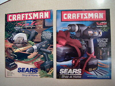 Two Craftsman Sears Holiday Sale Tool Catalogs 1997 / 1998