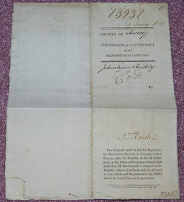 Early Land Tax Document, Surrey 1803