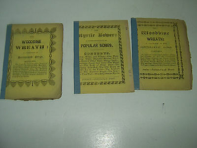 Antique Toy Theatre Song Booklets x 3 - Published by H. Howell