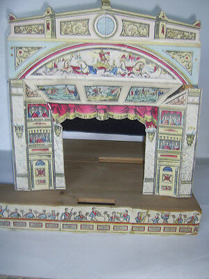 Vintage Wooden   Toy Theatre  with Procenium