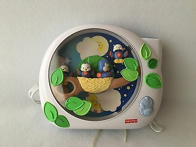 Fisher Price Baby Crib Soother Music Toy FLUTTERBYE Dream Birds Projector System