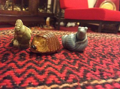 wade whimsies Hedgehog,cockatoo And Snail. All Excellent Condition