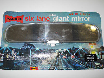 Yankee Super-Size Clip-On Rearview Mirror Giant Size Lane Day-Night Rearview