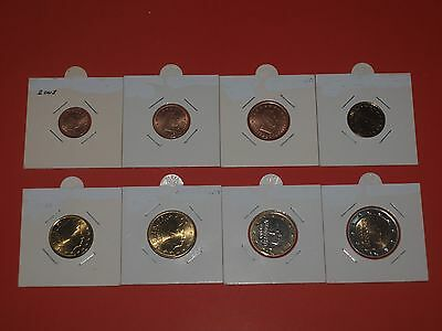 LUXEMBOURG 2002 EURO SET (1 cent to 2 euro), UNC.