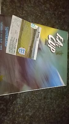 f a cup final programme and ticket 1992
