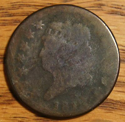 """181? Large  Cent-Classic Head"""" Ag-About Good-Damaged Slight Bend 200+ Years Old"""
