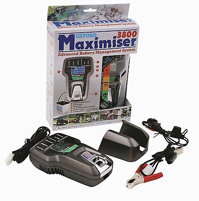 Oxford Maximiser 3800 Motorcycle Car Boat Battery Optimizer Charger  Of760