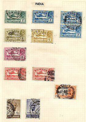 King George VI India Stamps, including Airmail