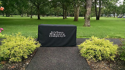 Custom printed 6' table cover cloth w white lettering