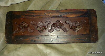 Small Antique Carved Wood Fragment Wall or Shelf ** Molds???