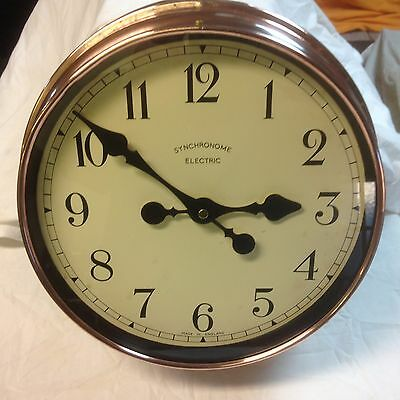 1920's /40's Copper Wall Clock Industrial Look