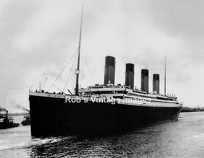Titanic sailing from  South Hampton  England  photo print  maiden voyage 1912
