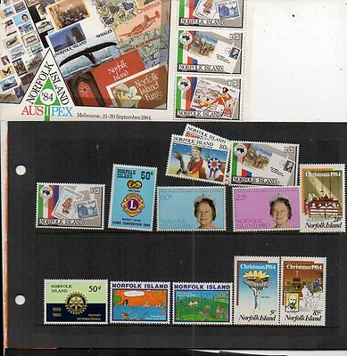 NORFOLK ISLAND STAMPS AND 2 FDCs, PLUS MINISHEET ALL MINT,TOP PACKAGE.