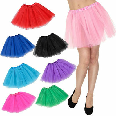 Ballet Dancewear Ladies Girls Kids Tutu Pettiskirt Princess Fancy Dress Party B4