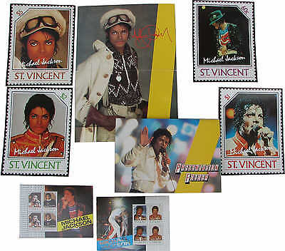 Michael Jackson Timbre Lot Timbres STAMP Stamps ST VINCENT Giant Collection 1985