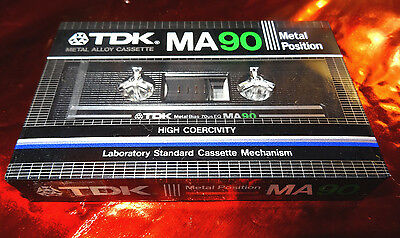 TDK MA 90 Metal Cassette made in japan ( 2nd version 1982 ) top sealed OVP rare