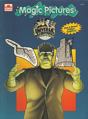 Universal Monsters-Magic Pictures Book-Frankenstein-Dracula-Mummy-Wolf Man-Rare