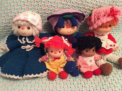 Lot Of Yarn Haired Dolls