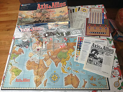 Milton Bradley AXIS AND ALLIES 5 World Powers Struggle for Supremacy-Which Wins?