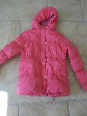NEXT Girls Pink Padded Coat with  hood - age 13-14 years - height 164 cms