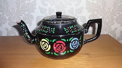 Vintage Hand Painted Tea Pot Barge Ware / Narrow Boat / Canal Ware !