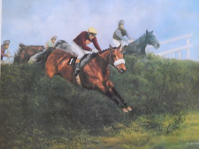 Red Rum Horse Racing Print Picture David French Hand Signed Limited Edition