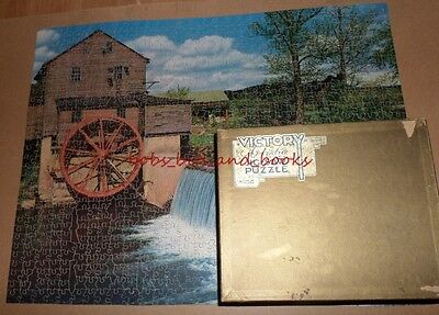 Vintage Victory Wooden Gold Box Artistic Jigsaw In Days Gone By (Old Mill) 1000