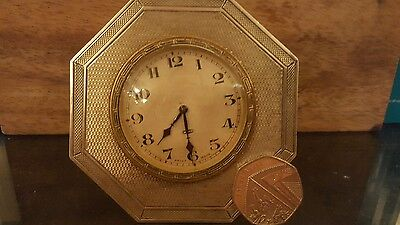 solid silver travel clock