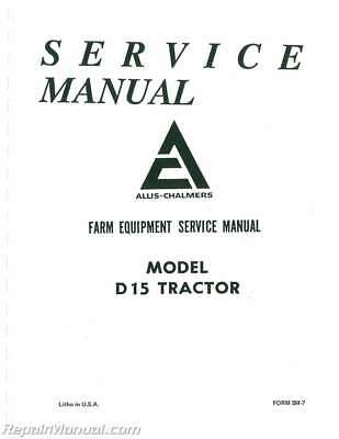 Other manuals literature parts accessories ebay motors page allis chalmers d15 service manual fandeluxe Images