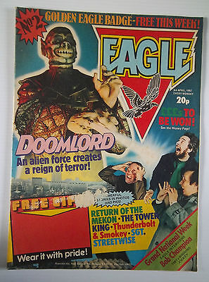 EAGLE 2ND  ISSUE 1982  WITH DOOMLORD & CLARE GROGAN on BACK