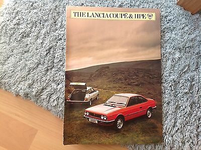 Lancia Coupe & Hpe. Brochure. 1983