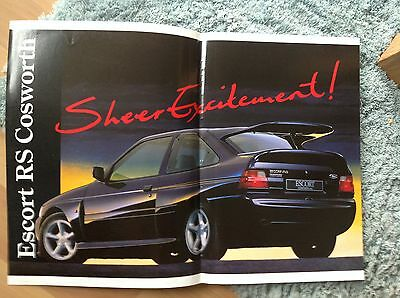 Ford Escort Rs Cosworth Sales Sheet 1992