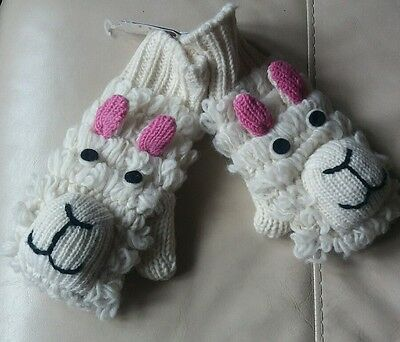 Cute knitted winter  sheep gloves. Never been worn.