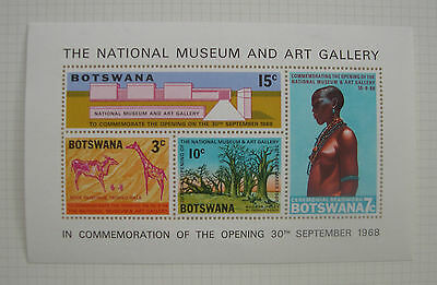 Botswana 1968 The National Museum and Art Gallery Mini Sheet Stamps MNH