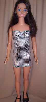 Silver Shimmer Strapless Dress for My Size Barbie