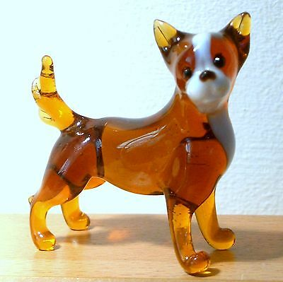 "Hand Blown ""murano"" Glass Collectable Chihuahua Dog Figurine"