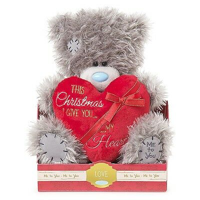 Me To You Tatty Teddy THIS CHRISTMAS I GIVE YOU MY HEART Plush Blue Nose Bear