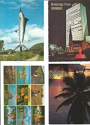 Postcards 12 Mixed From Queensland, 5 Unused , Nice Lot . See Scan