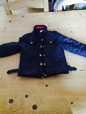 Girls Ted Baker Coat Navy Age 4