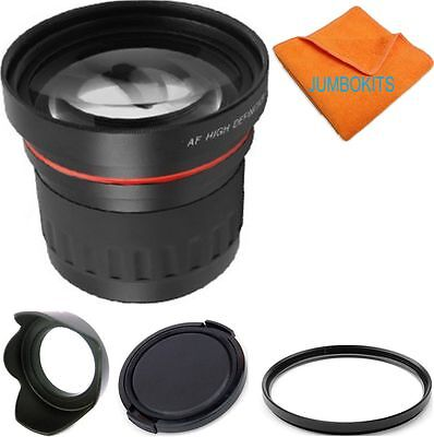 58MM 2.2X ZOOM LENS +ACCESSORIES FOR CANON EF‑S-18mm‑55mm T1 T2 T3 T4 T5 T3I T6