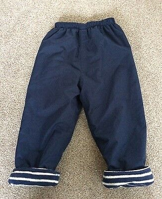 Jojo Maman Bebe Waterproof Fleece Lined Snow Trousers Size 2-3
