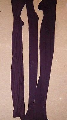 3 pairs girls black tights size 9-10