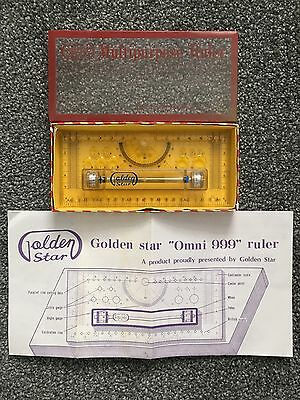 Vintage Golden Star Omni 999 Multipurpose Ruler In Box With Instructions