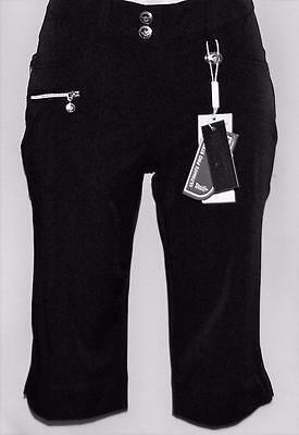 Ladies Size US 2 Black Daily Sports Scratch Players Collection bermuda shorts