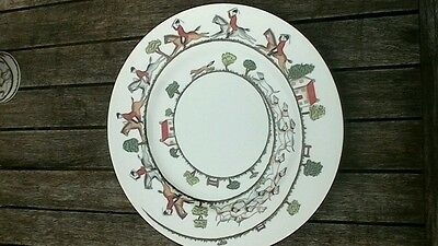 Crown staffordshire hunting scene dinner plate