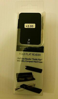 Foster Grant Magnivision Reading Glasses Fold Flat +1.00 +2.00 +3.50 RRP £30
