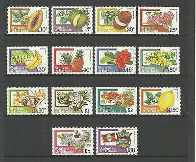 Antigua & Barbuda ~ 1983 Fruits & Flowers (Part Set) Mint Mnh