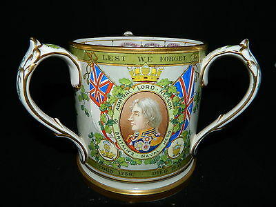 Antique rare Lord Nelson Copeland Spode tankard large commemorative loving cup