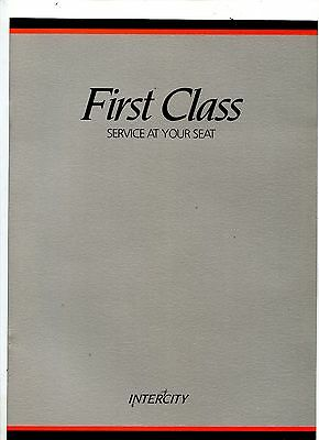 Intercity First Class Service at your Seat menu